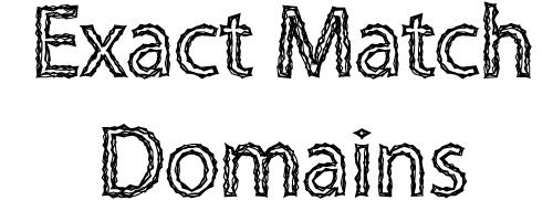 exact match domains