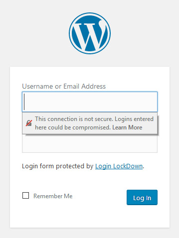 this connection is not secure ssl