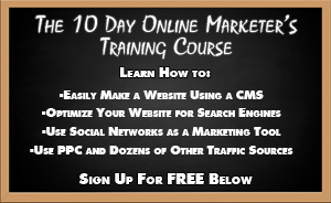 10 day online marketers training course chalkboard